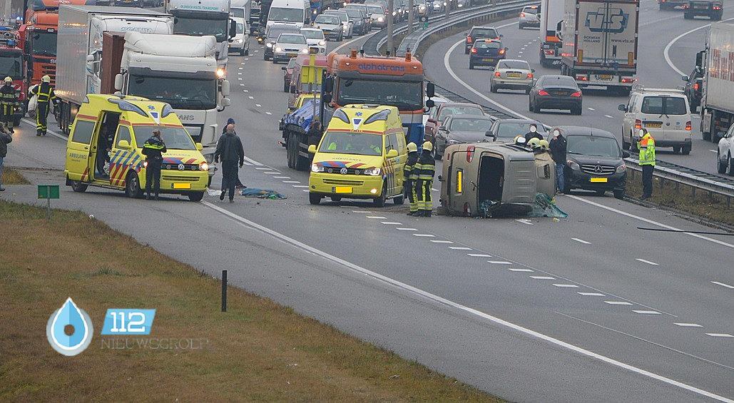 Ernstig Ongeval A  Vrachtwagen En Personenbusje Venlo